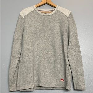 TOMMY BAHAMA | cotton terry gray sweatshirt